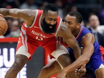 fca3b8e98bb6 Houston Rockets  James Harden (13) is defended by Los Angeles Clippers   Avery