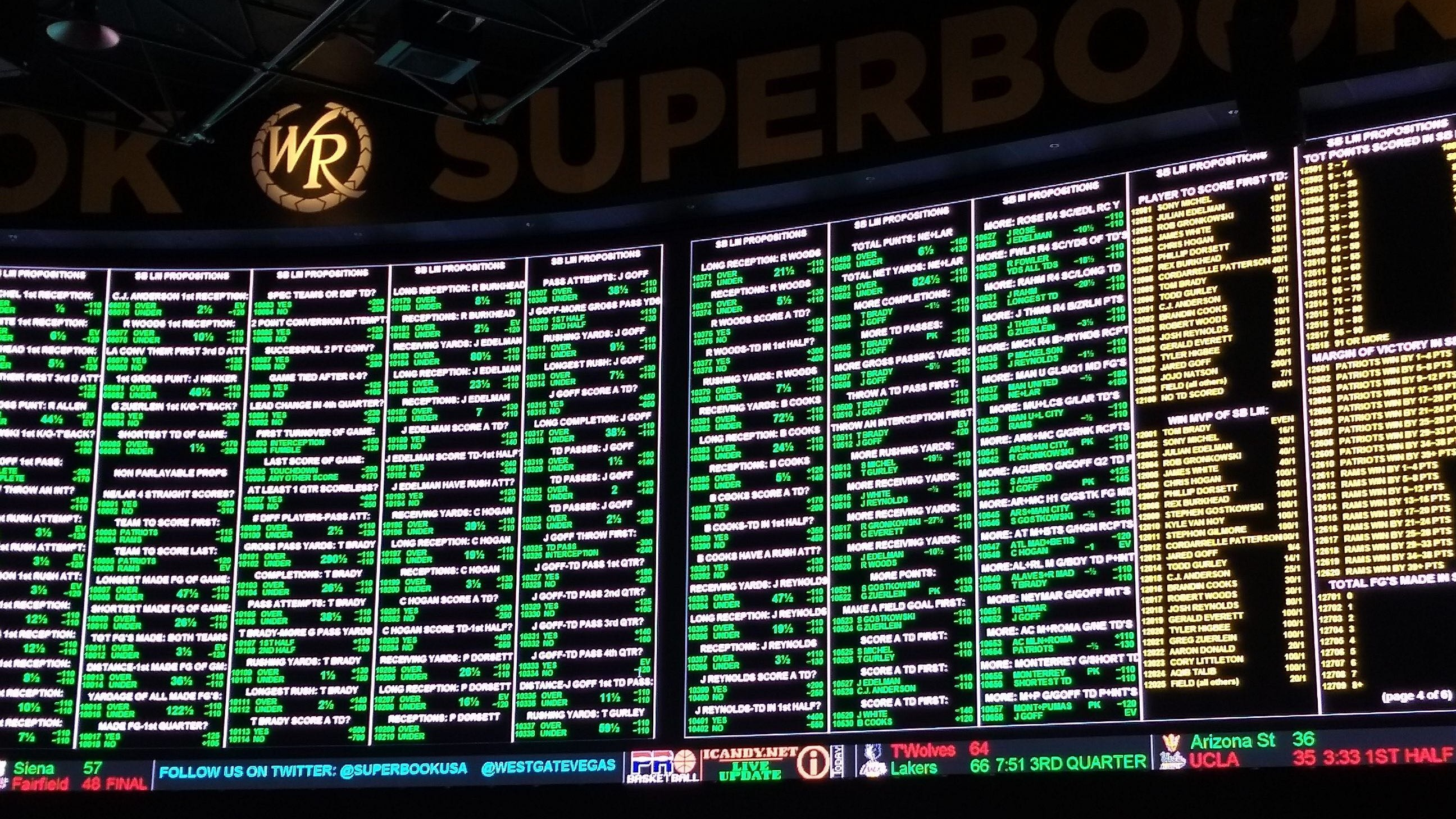 Las vegas betting lines sportsbook nba no risk matched betting review