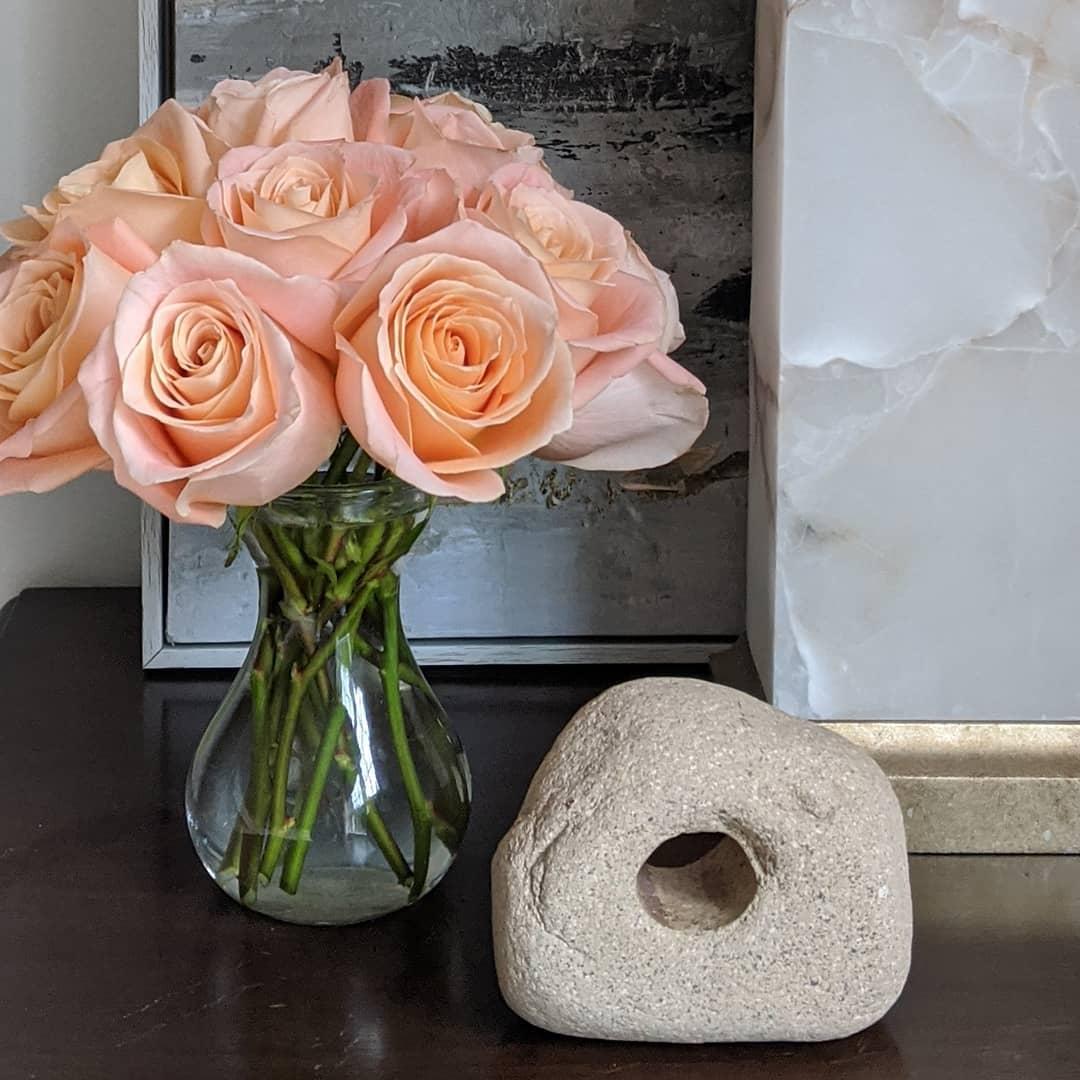 Peach Roses = Peaceful Moment