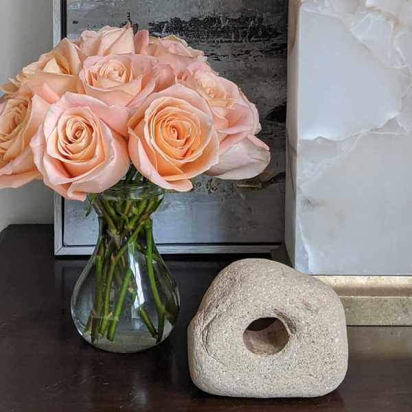 Peach Roses = Peaceful Moment