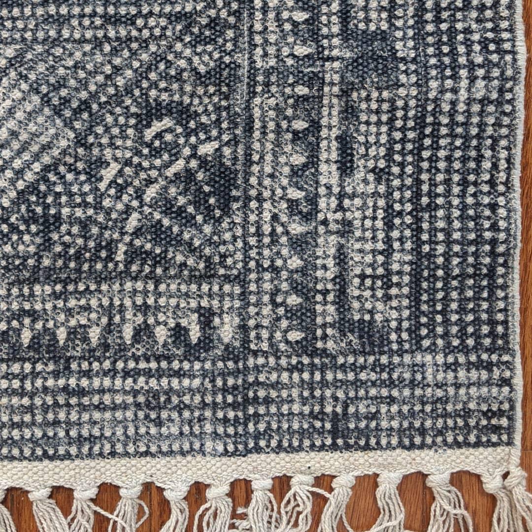 Handmade Block-Printed Rug