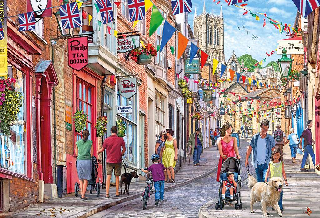 Steep Hill 1000 Jigsaw Puzzle