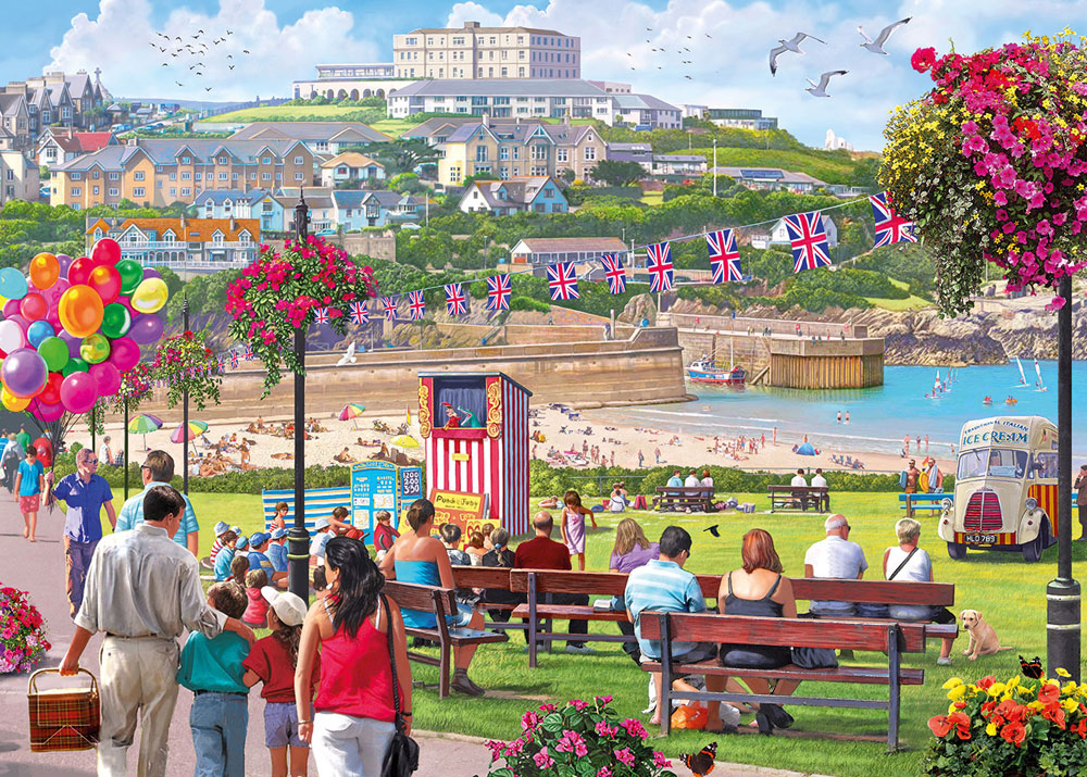 Newquay Harbour 1000 piece jigsaw puzzle