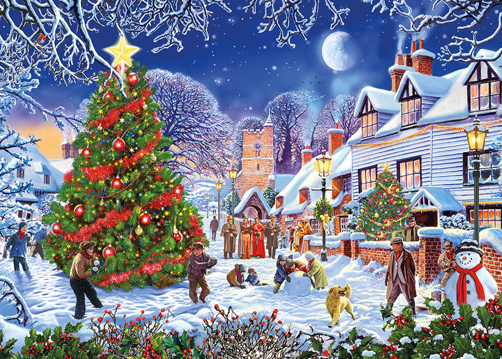 The Village Christmas Tree 500XL puzzle