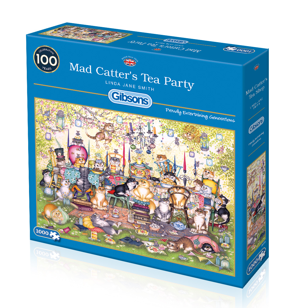 Mad Catter's Tea Party 100pc Jigsaw