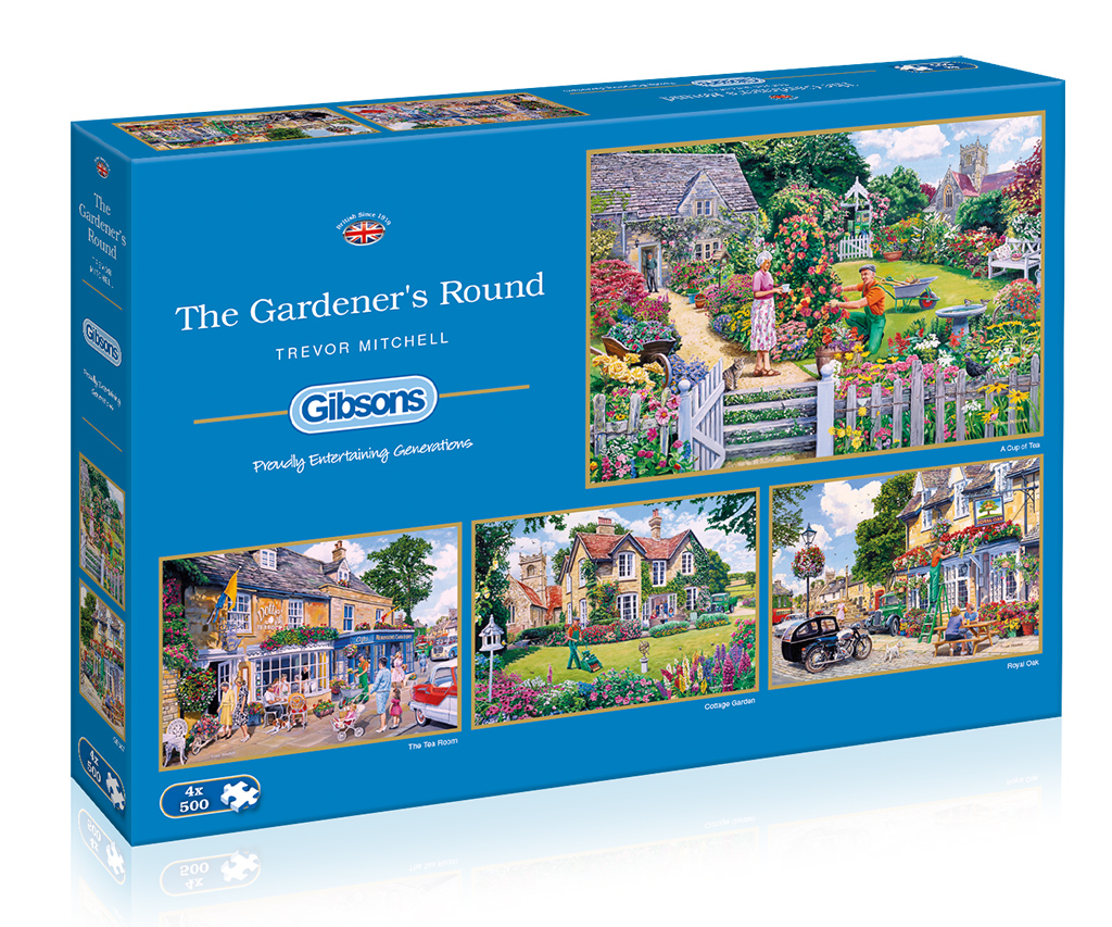 The Gardener's Round 4x500 Jigsaw