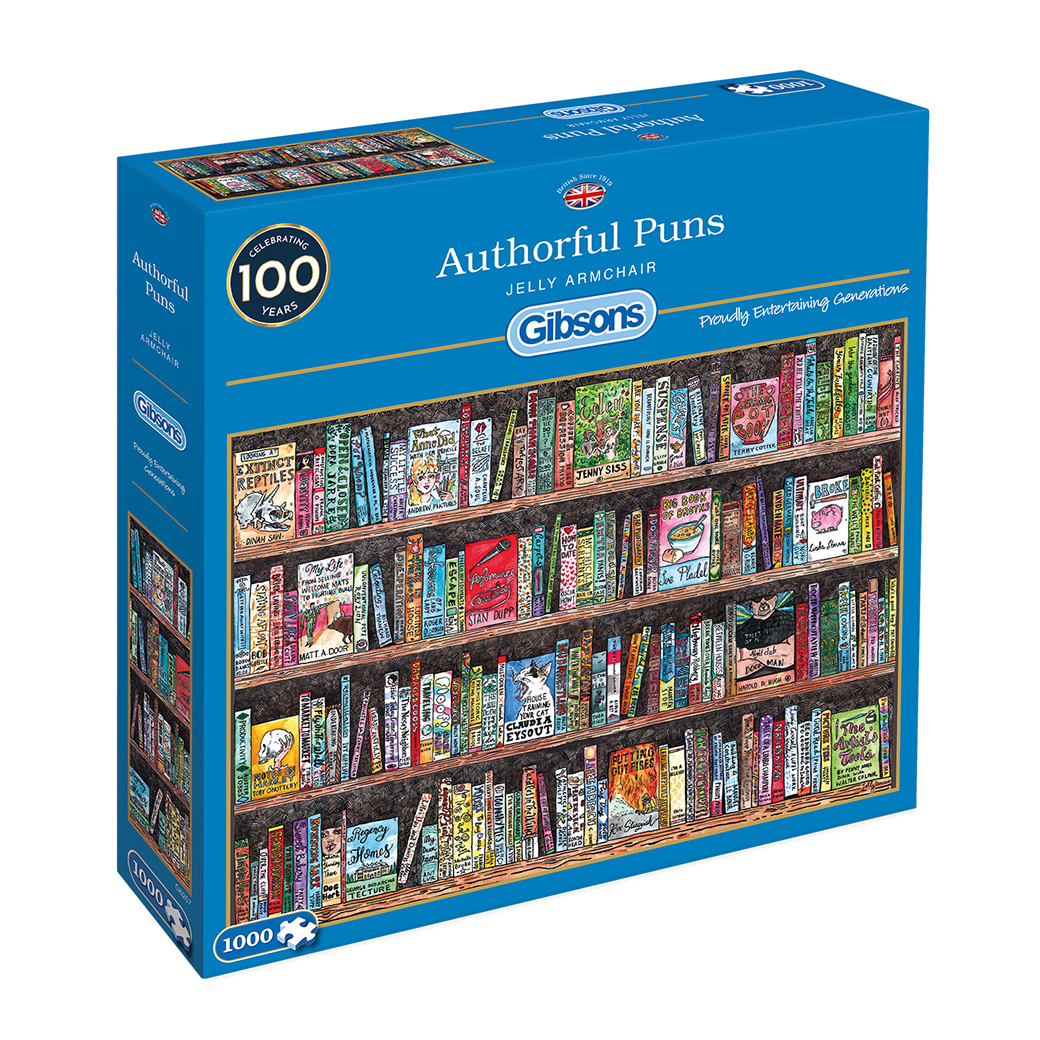 Authorful Puns 1000pc Jigsaw Puzzle