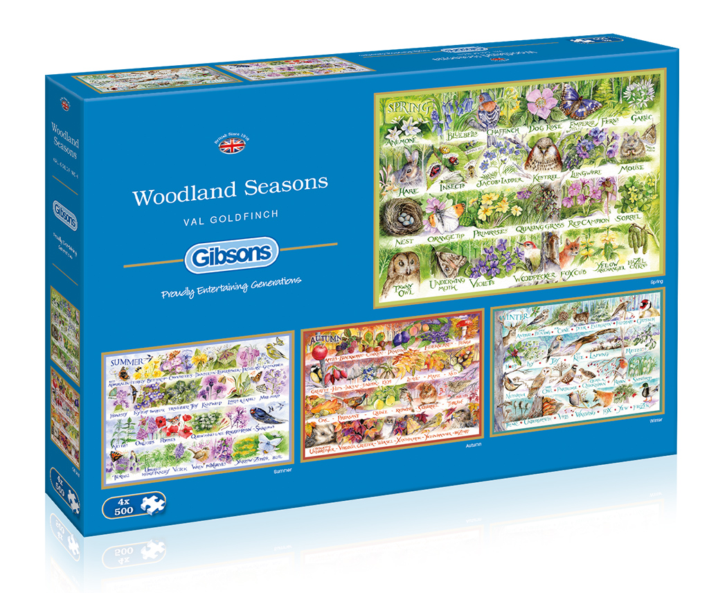 Woodland Seasons 4x500 Jigsaw