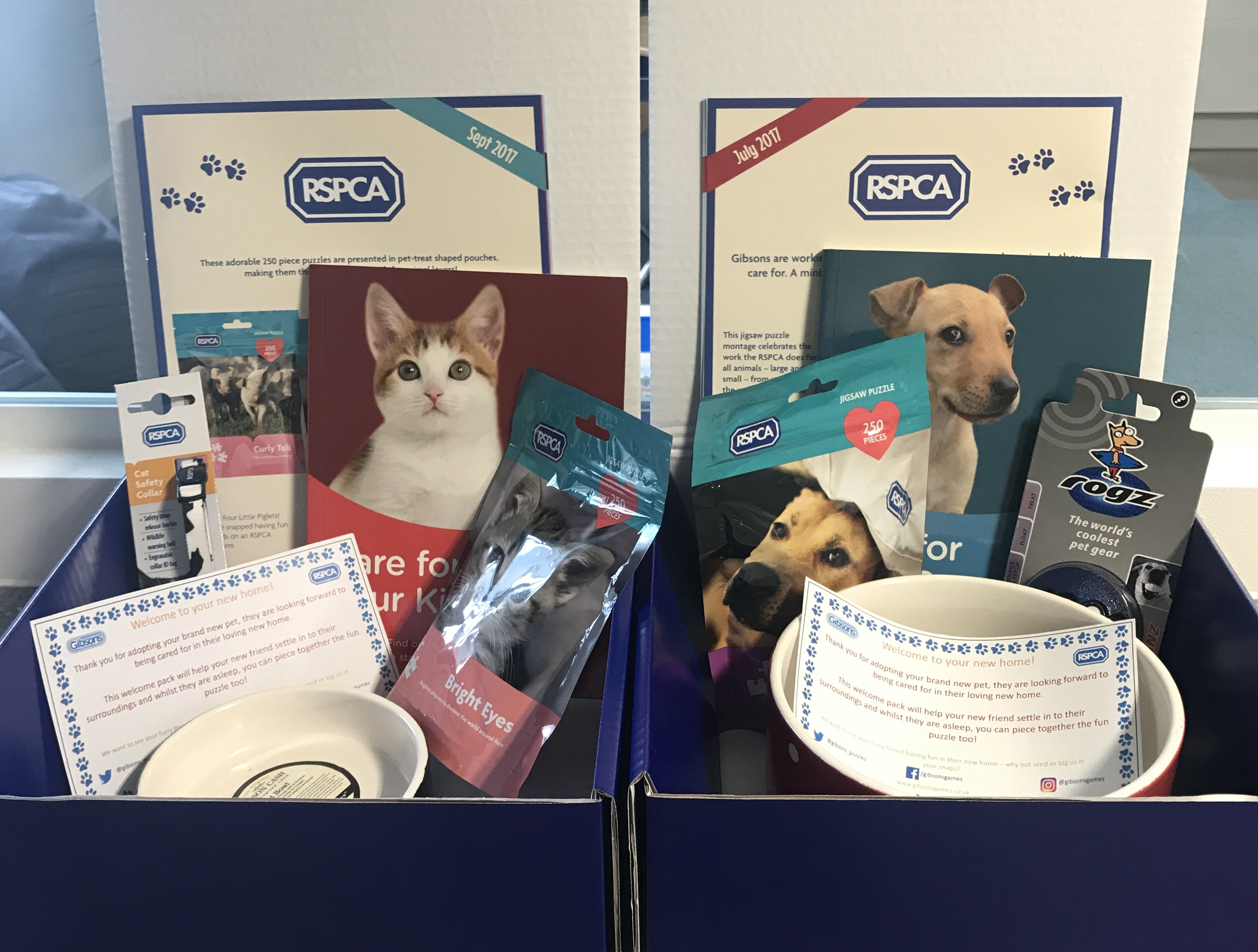 Gibsons help RSPCA rescue pets settle into their new home