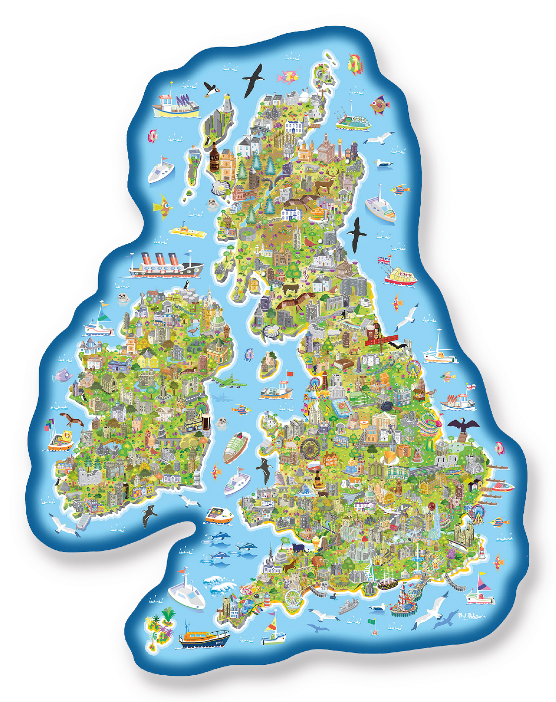 Jigmap Great Britain & Ireland Jigsaw