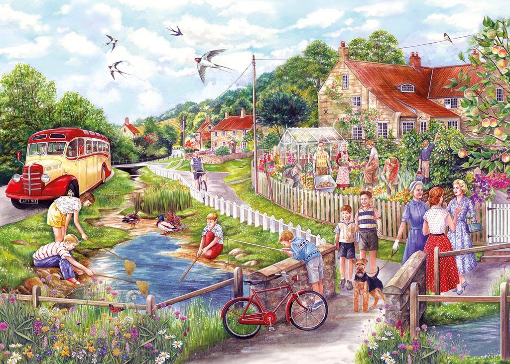 Summer by the Stream 1000 Jigsaw Puzzle