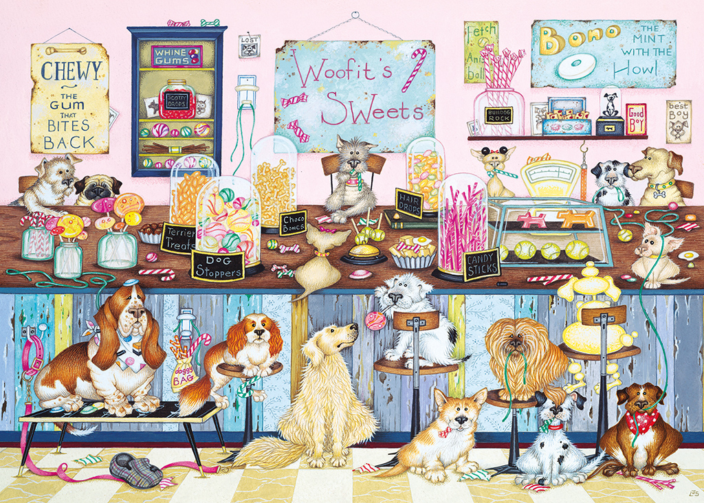 Woofit's Sweet Shop 1000 Jigsaw Puzzle