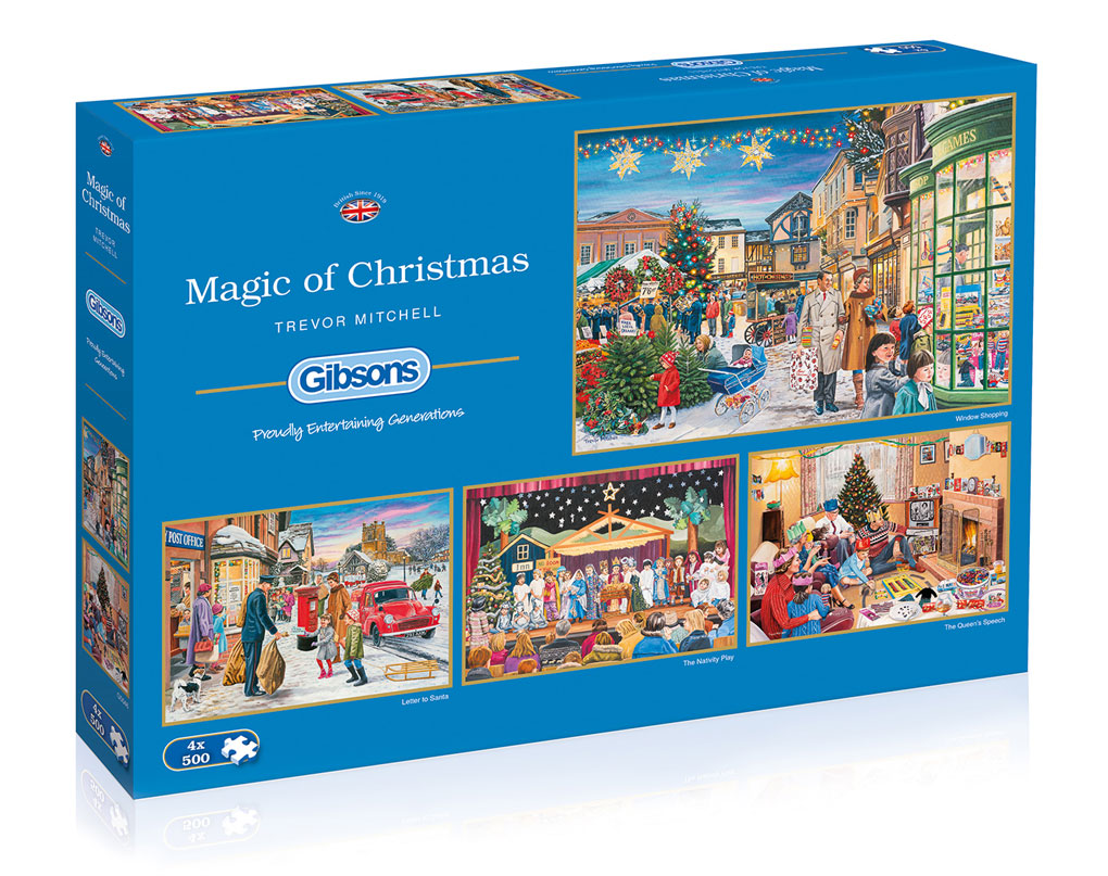 Magic of Christmas 4x500 piece puzzle
