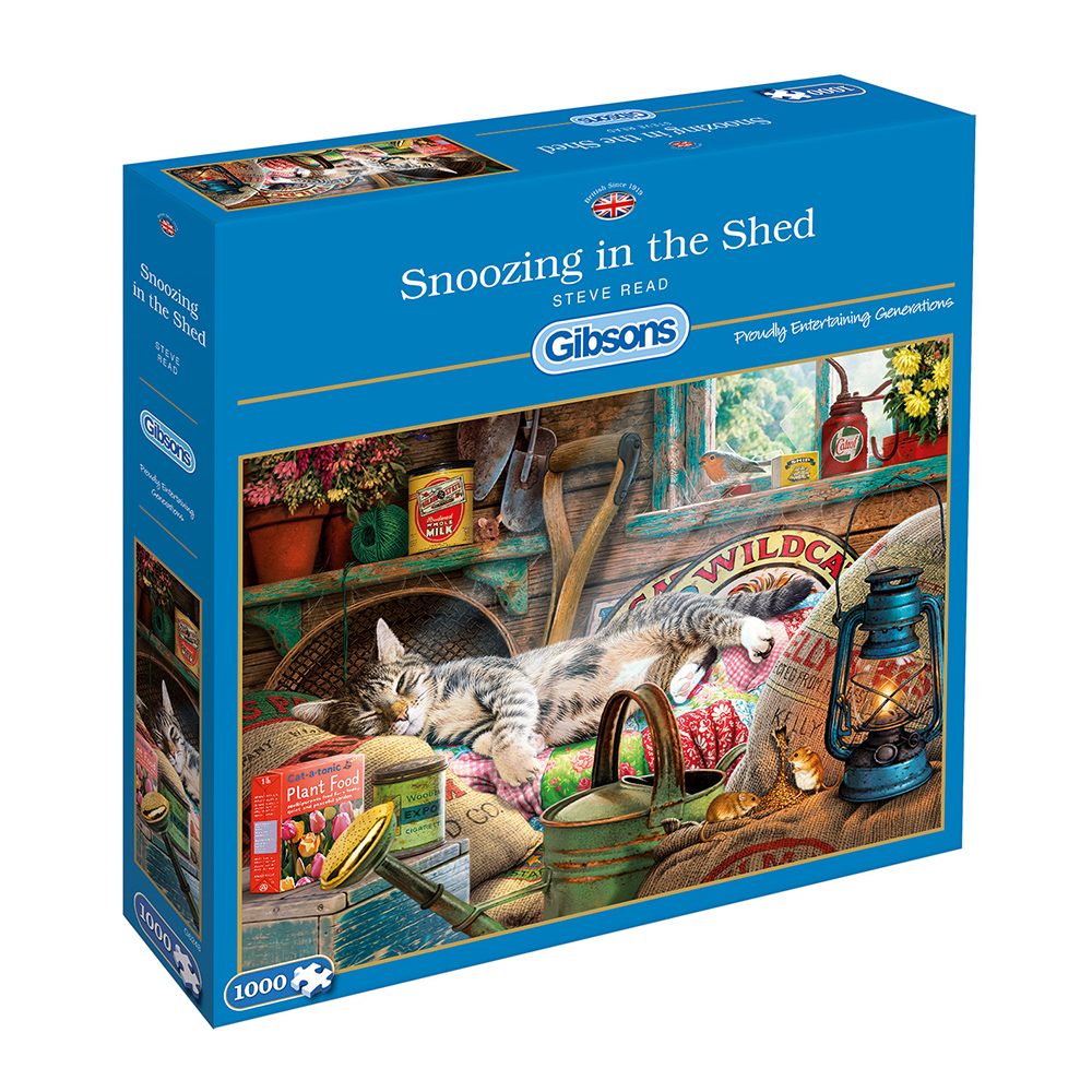 Snoozing in the Shed 1000pc Jigsaw