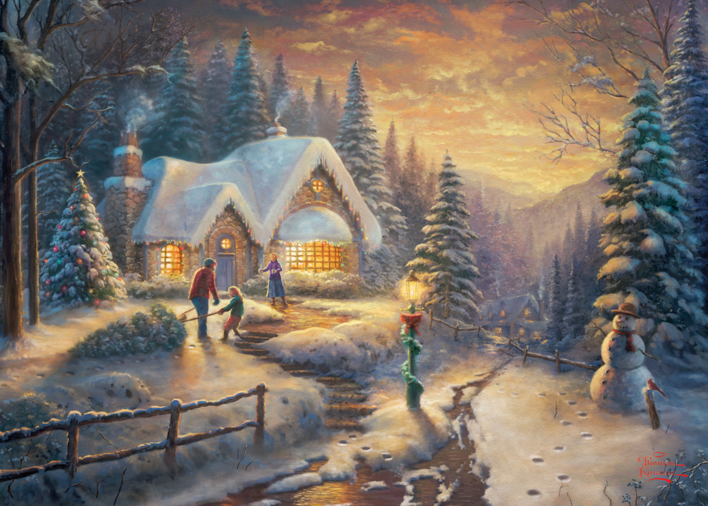 Country Christmas Homecoming 1000 Jigsaw