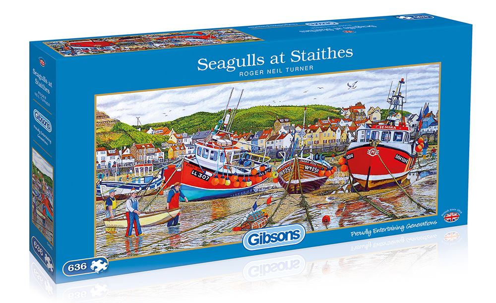 Seagulls at Staithes 636pc Jigsaw Puzzle