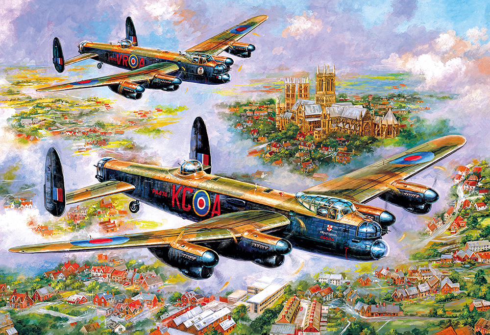 G3113 Lancasters over Lincoln