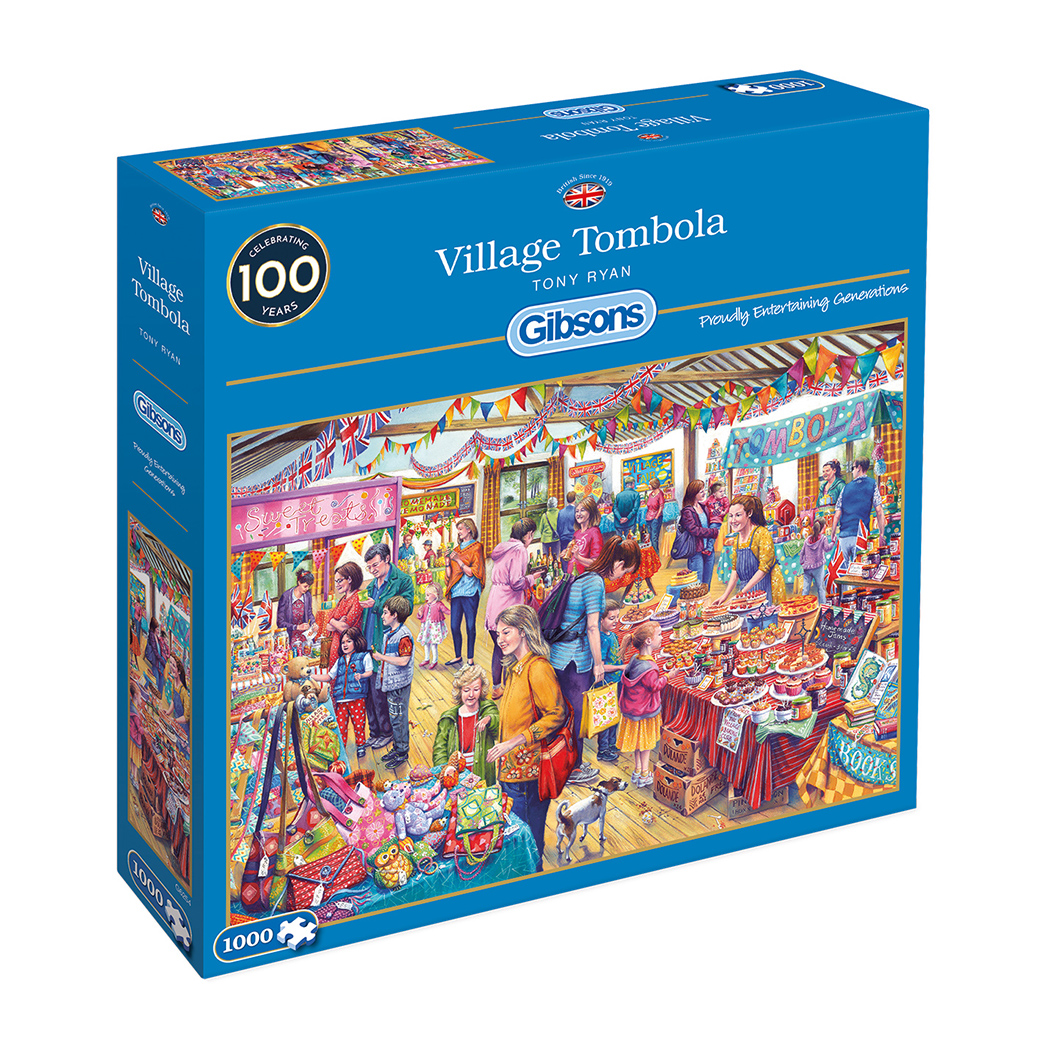 Village Tombola 1000pc Jigsaw Puzzle
