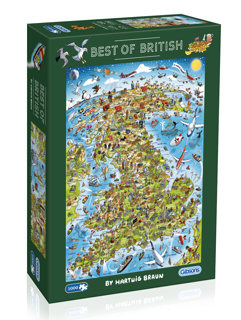 Best of British 1000pc Jigsaw Puzzle