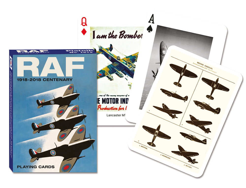 P1676 RAF centenary playing cards