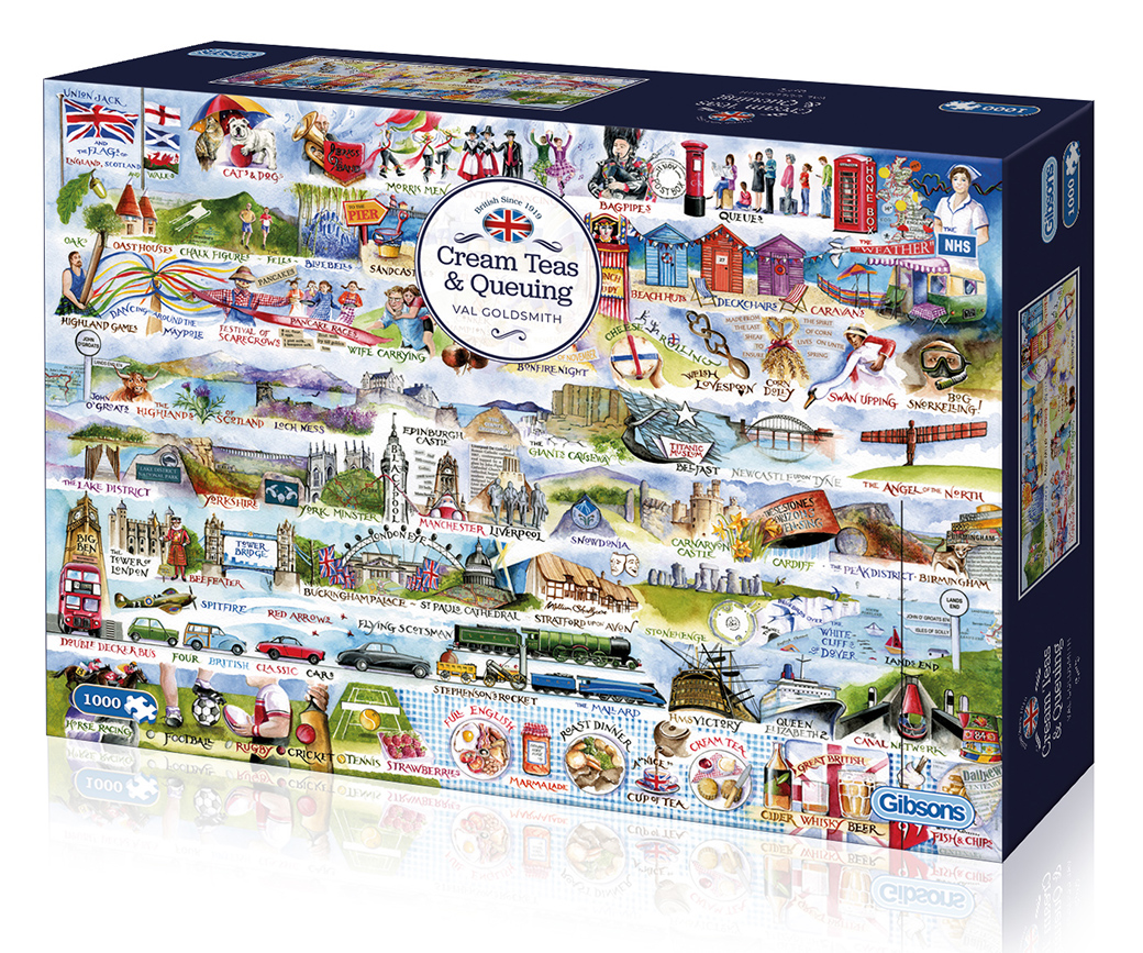 Cream Teas & Queuing 1000pc Jigsaw