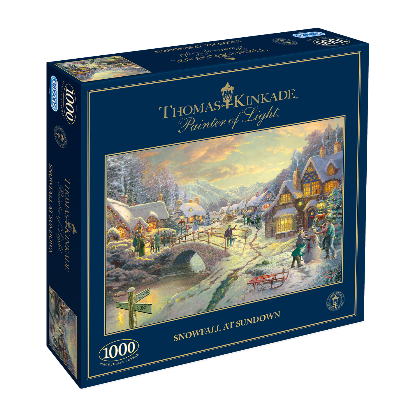Snowfall at Sundown 1000pc Jigsaw Puzzle
