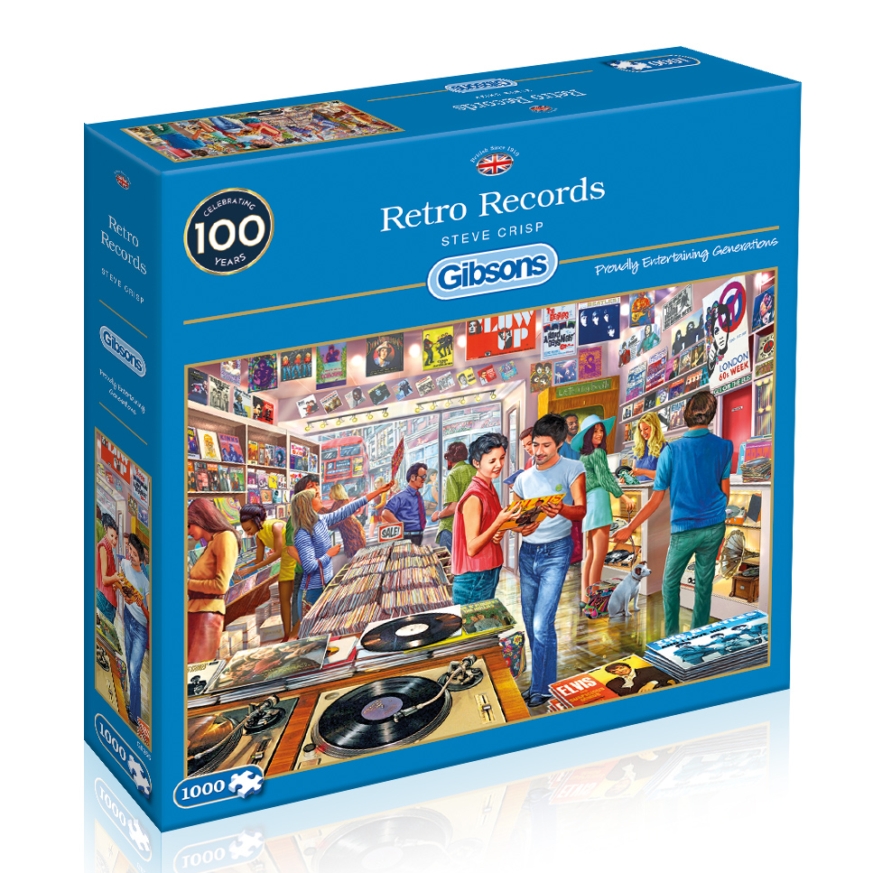 Retro Records 1000pc Puzzle