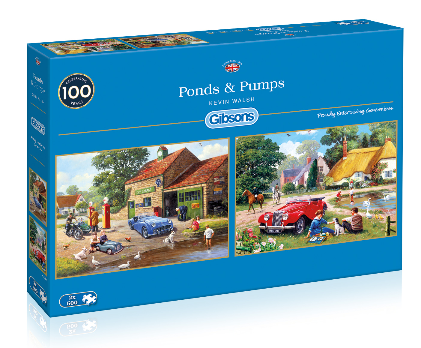 Ponds & Pumps 2 x 500pc Jigsaw Puzzle