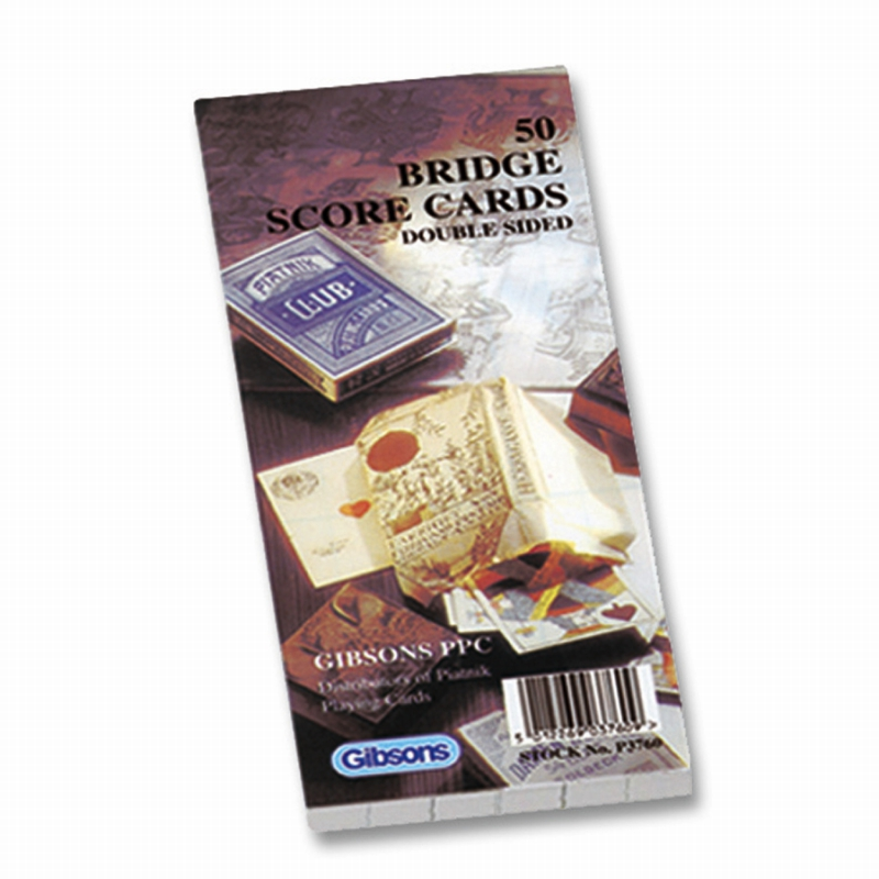 Bridge Score Cards