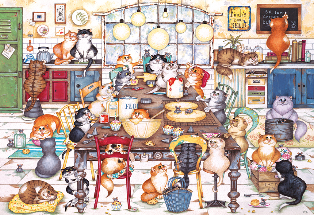 Cat's Cookie Club 500pc Jigsaw Puzzle