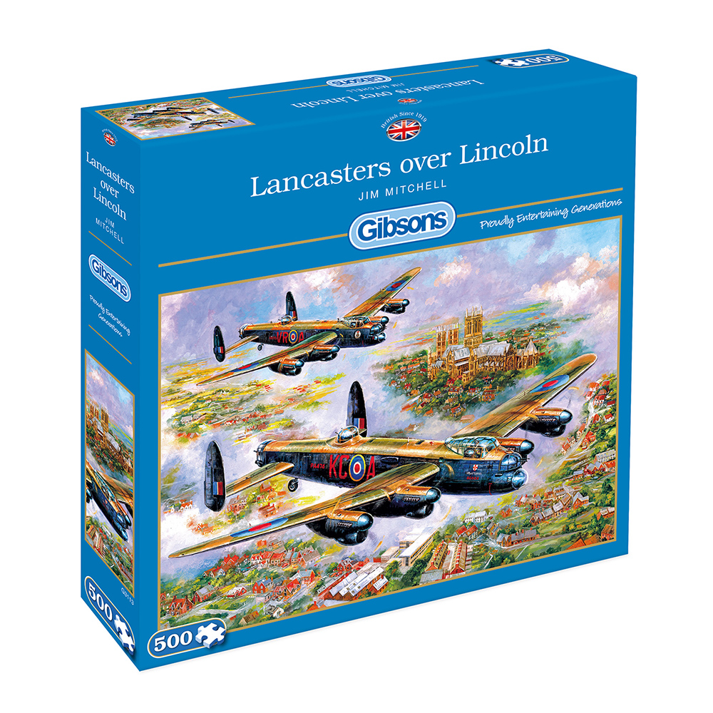 Lancasters Over Lincoln 500pc Jigsaw