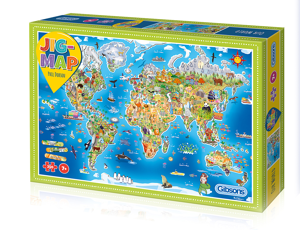 Jigmap - Our World 250pc Jigsaw Puzzle