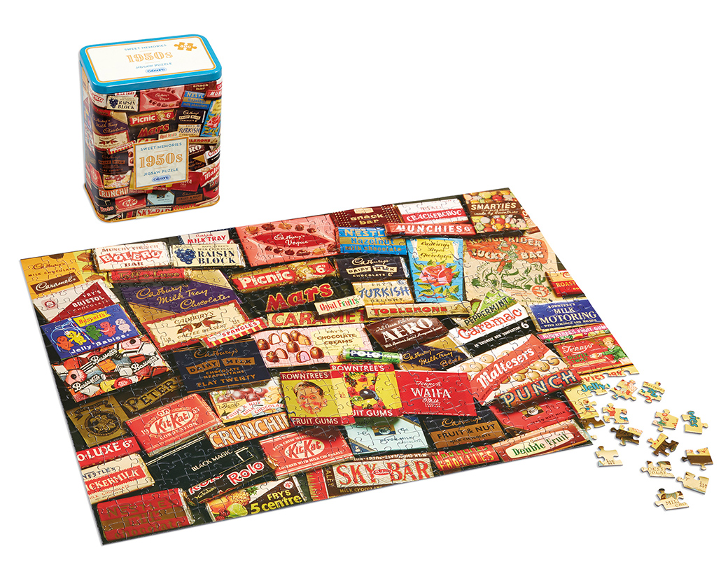 G3830 1950s Sweet Memories Gift Tin & puz