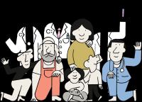 Cabinet team illustration