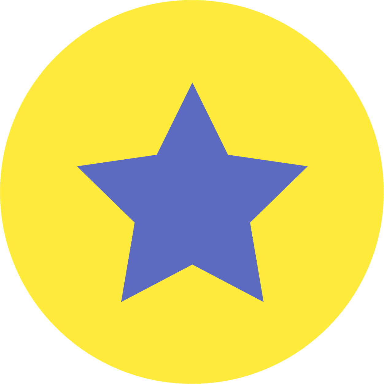 Circular background star icon