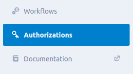 authorizations tab