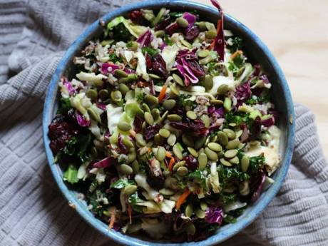 kale and cabbage salad constancelyeating