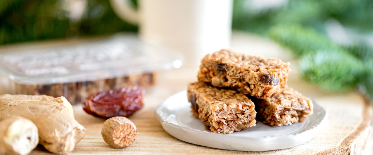 mince pie flapjack header