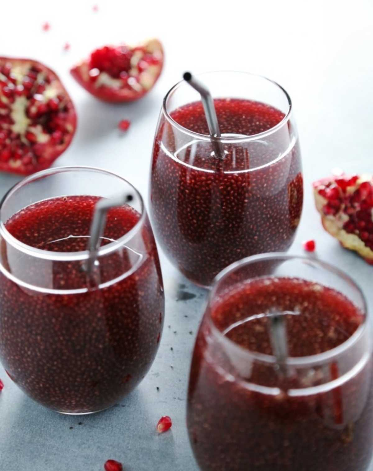 pomegranate chia tea