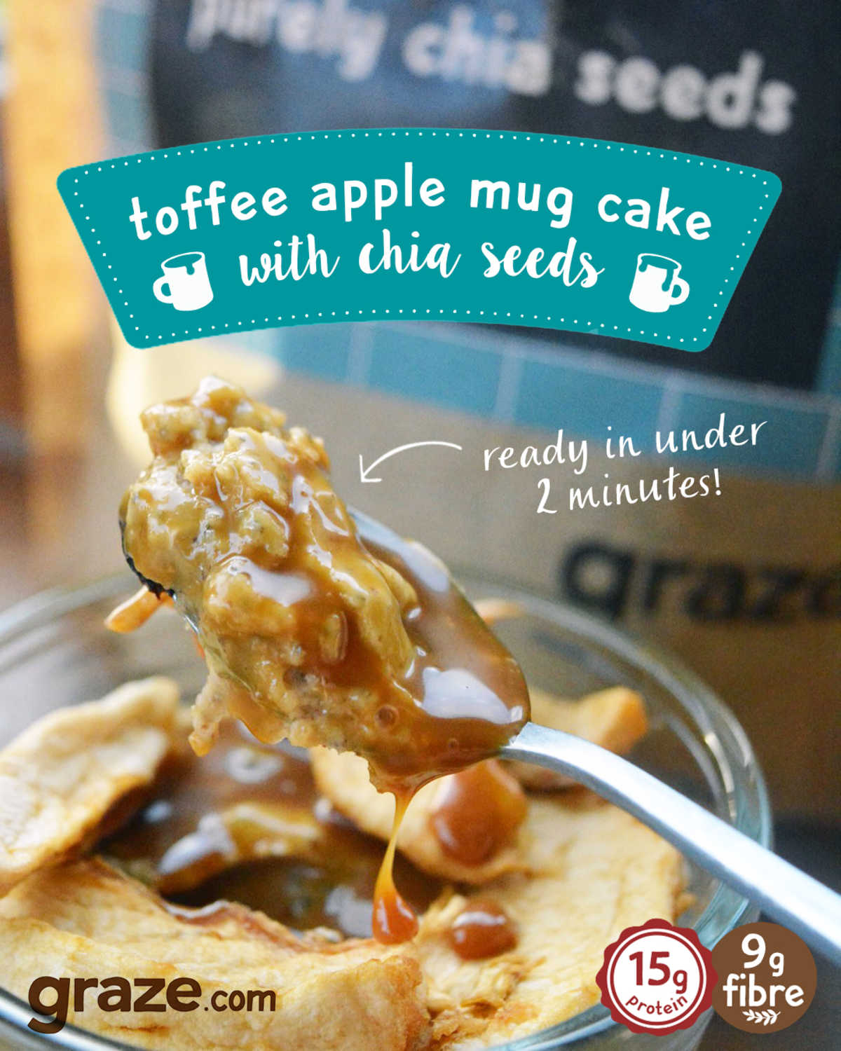 toffee apple mug cake