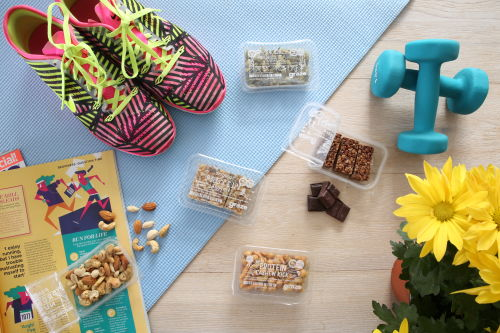 top down shoes gym weights protein snacks