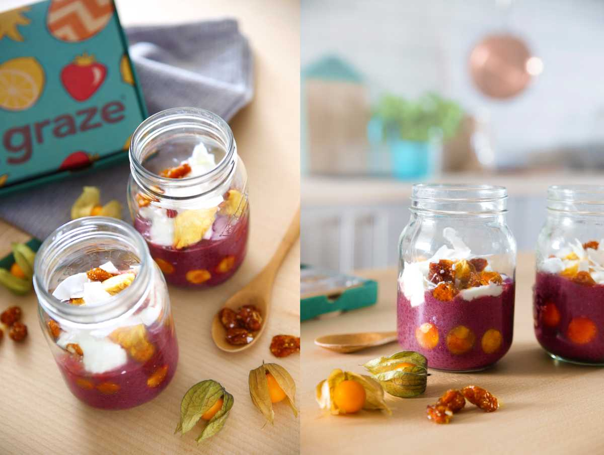 golden berry chia puddings wide