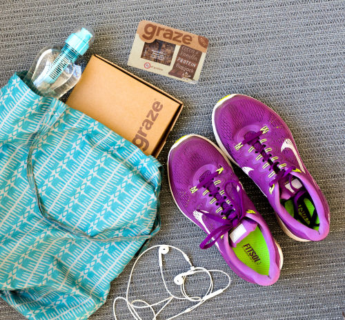 top down shoes bag gym snacks