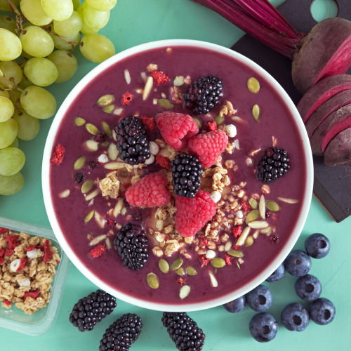 purple smoothie bowl
