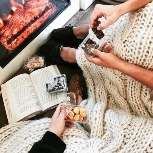 sofibatt snacking blanket book fire
