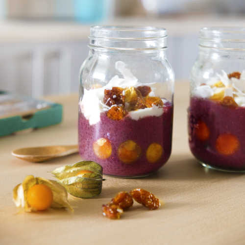 golden berry chia pud