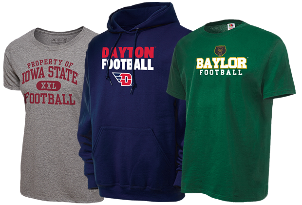 High School Apparel, College Fan Gear, Pro Sports Clothing