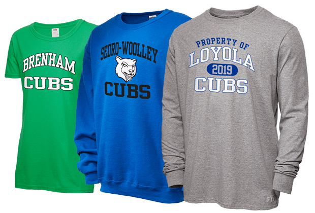 High School Apparel, College Fan Gear, Pro Sports Clothing, and