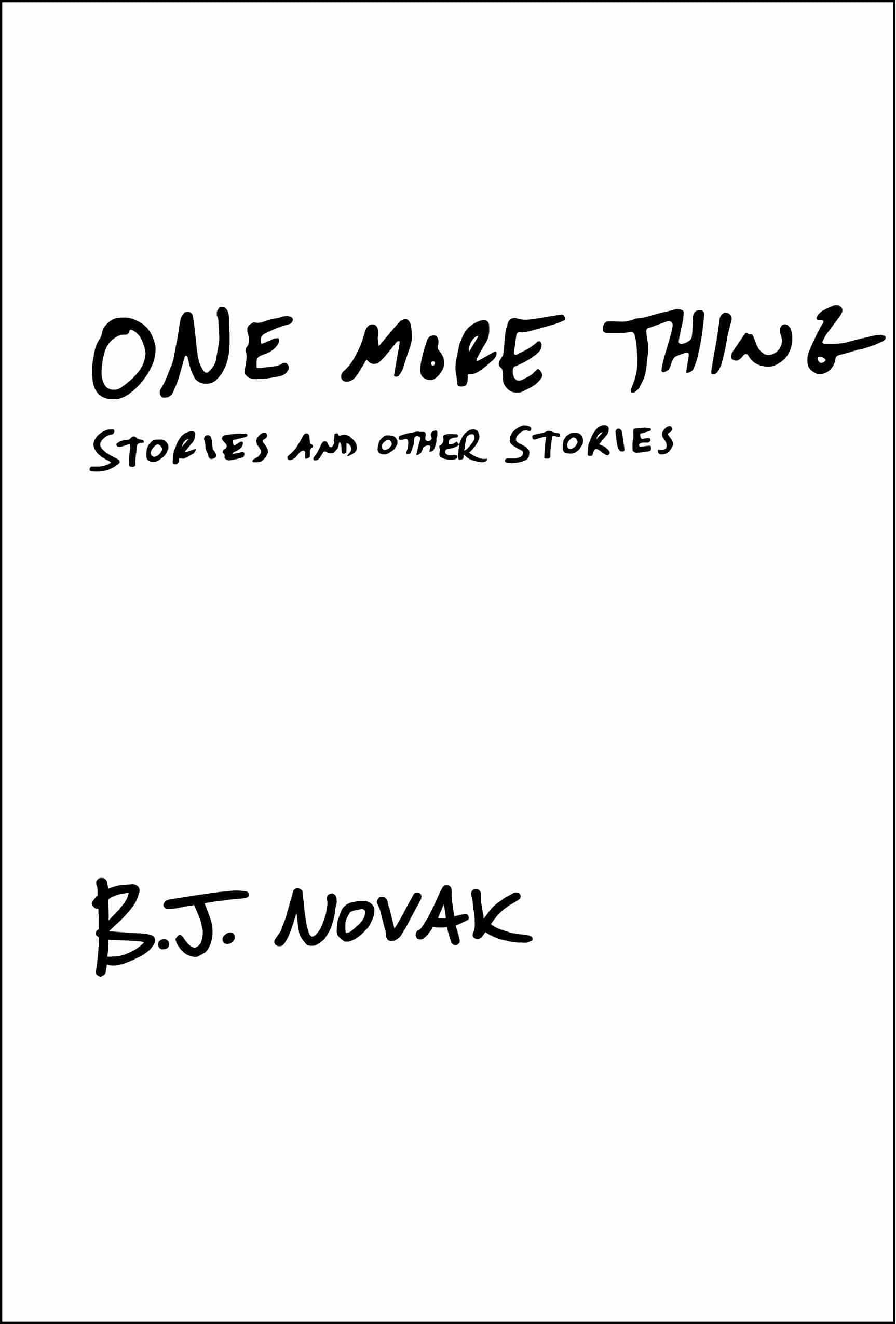One More Thing book cover