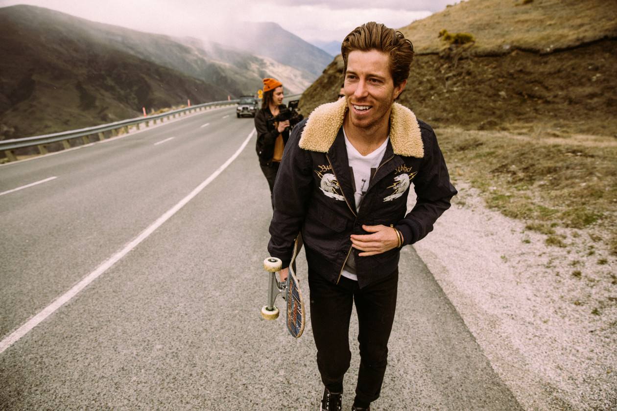 Shaun White skateboarding in New Zealand